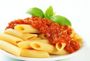 Pâtes et sauce tomate